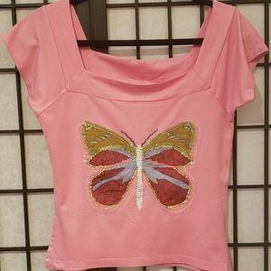 Ingenue ladies Pink Blouse size Large